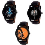 R P S fashion new letest model combo pack of 3 men watch 6 month warranty