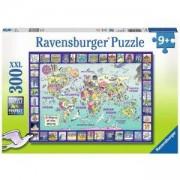 Детски пъзел 300 части - Опознай света - Ravensburger, 700953