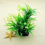 Tradico® High Quality Green Plastic Water Plants Grass for Aquarium Fish Tank Ornaments