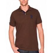 US Polo ASSN Herren T-Shirt, US Polo ASSN in Braun