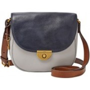 Fossil Women Grey Genuine Leather Hand-held Bag