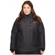 Columbia Plus Size Alpine Actiontrade Omni-Heattrade Jacket Black CrossdyeBlack