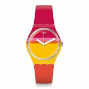 Swatch Orologio Gw198 Roug'heure Multi colore Silicone