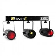 Beamz 3-Some Juego de luces LED RGBW Láser Multipoint Con micrófono (Sky-153.735)