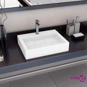 vidaXL Umivaonik od lijevanih minerala/mramora 60 x 38 x 11 cm bijeli