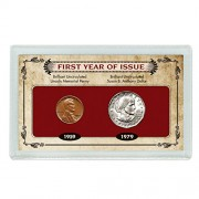 American Coin Treasures First Year of Issue Lincoln Memorial Penny & Susan B. Anthony Dollar Novelty