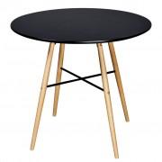 vidaXL Dining Table MDF Round Black
