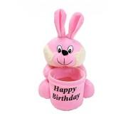 Ultra Soft Teddy Pen Stand Holder Adorable Gift for Kids Birthday (Rabbit)