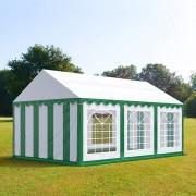 tendapro.it Tendone 3x6m PVC bianco-verde Gazebo per Feste e Giardino