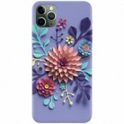 Husa silicon pentru Apple iPhone 11 Pro Flower Artwork