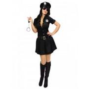 Vegaoo Sexy Polizei-Officer Kostüm für Damen schwarz