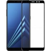 Folie protectie sticla securizata 3D curbata pentru Samsung Galaxy A8 2018 negru