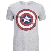 Geek Clothing Marvel Captain America Sheild Heren T-Shirt - Grey Marl - M - Grijs