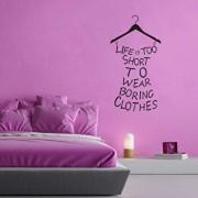 Sticker decorativ de perete Sticky, 260CKY5016, Negru
