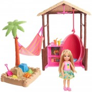Barbie Chelsea y su cabaña de playa, muñeca con accesorios