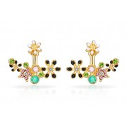 Philip Jones Gold Plated Flower Earrings made with Crystals from Swarovski® - 2 Designs!