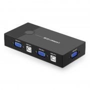 Adaptor video 2 in 1 UGREEN 30357 KVM Switch Box 2-port VGA