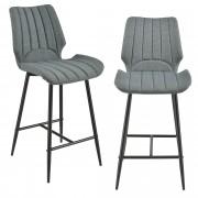 [en.casa] Barová židle AACM-9034 - textil