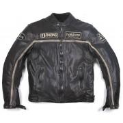 Helstons Daytona Rag Chaqueta de cuero Negro 3XL