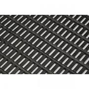 Certeo Bodenmatte - mit Rechteck-Hohlprofilen - Breite 1000 mm, schwarz, Preis pro lfd. m