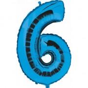 Geen Cijfer 6 ballon blauw