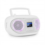 Auna Roadie Smart, boombox, интернет радио, DAB / DAB +, FM, CD плейър, LED, WiFi, bluetooth (KBB-257-RoadieIR WH)