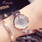 KIMIO Thin Clock Women Fashion Simple Watches Rhinestones Dress Woman Watch Rose Gold Quartz Ladies Women's Watch Wristwatch