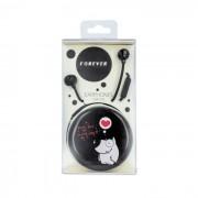 Casti cu fir si microfon Forever CM-310 3.5mm stereo black