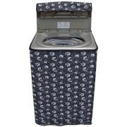 Dream CareFloral Grey coloured Waterproof & Dustproof Washing Machine Cover For Haier HWM75-1128NZP Aqua Fully Automatic Top Load 7.5 kg washing machine