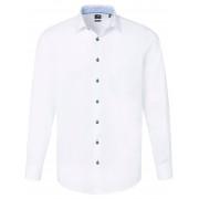 Hatico Heren Overhemd van 100% katoen met kentkraag Van Pure wit