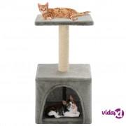 vidaXL Penjalica za mačke sa stupovima za grebanje od sisala 55 cm siva
