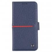 GEBEI Yaqi Series Genuine Leather Flip Wallet Phone Cover for iPhone 11 Pro Max 6.5 inch (2019) - Blue