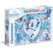 Clementoni puzzle supercolor disney frozen olaf's adventure 24 maxi pezzi 24072