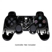 Game Xcel Sony Ps3 High Gloss Controller Skin Custom Playstation 3 Remote Vinyl Sticker Play Station 3 Joystick Decal Reaper Black