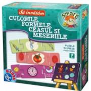 Joc educativ D-Toys Sa Invatam Culorile Formele Ceasul si Meseriile