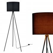 [lux.pro]® Elegantní stojací lampa - ihlan 1 x E27 - 40W - černá