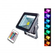 Foco Led Control Remoto Reflector Color Rgb 20w 16 colores