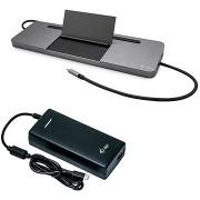 i-tec USB-C fém ergonómikus 4K 3x kijelző dokkoló állomás, tápegység 85 W + i-tec univerzális kábel