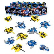 Space War Battle Vehicle Ball 12 in 1 Mini Building Blocks Convertible to Lego for Boys Transformer DIY Christmas Party Gift Toys - 12 Styles