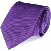 Krawatte Lila Seide Uni F30 - Violett