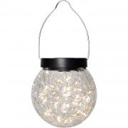 Star Trading Glory Solcellslampa LED Ø12cm, Transparent