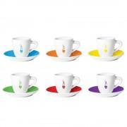Set 6 cesti espresso Bialetti Omino Multicolor
