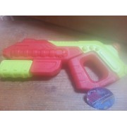 Red and Yellow Soak N Fun Pump Water Gun