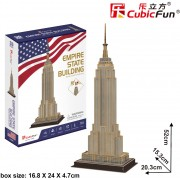 Puzzle 3D Cubic Fun - Empire State Building, 54 piese (Cubic-Fun-C246h)