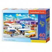 PUZZLE 40 PIESE MAXI O ZI LA AEROPORT - CASTORLAND (B-040223)
