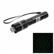 Puntero laser de la bici de la luz verde del estilo de las estrellas 5mW con el clip - negro