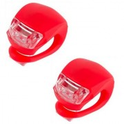 Autosun Bike Bicycle Super Bright Headlights Led Safety Warning Head And Tail Light Set of 2-Red