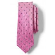 ランズエンド LANDS' END メンズ・シルク・テクスチャー・バースト・ニート・タイ/ネクタイ(ピンク)