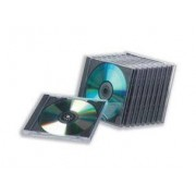 Compucessory 442455 1dischi Nero, Trasparente custodia CD/DVD