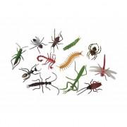 Merkloos 12x Plastic speelgoed insecten